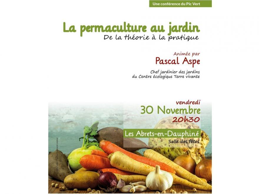 Affiche conférence sur la permaculture du Pic vert et Terre vivante sur nature isère