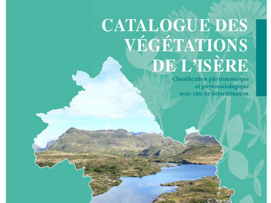 Couverture du catalogue des végétations de l'Isère du CBNA