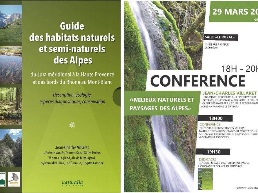 Couverture du Guide des habitats naturels et semi-naturels des Alpes du CBNA sur nature isère