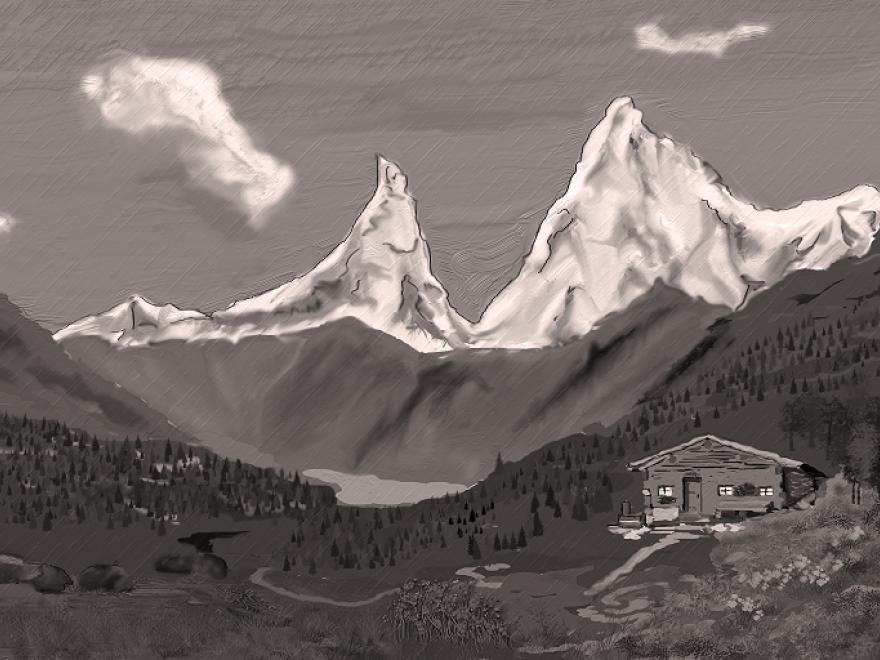 """Photo de refuge de montagne. Image de """"2221709"""" sur Pixabay"""