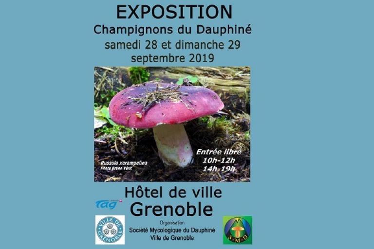 Affiche Exposition champignon,Grenoble 2019 SMD38