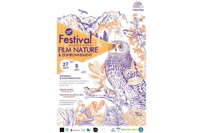 Affiche Festival International du Film Nature & Environnement, FRAPNA isère