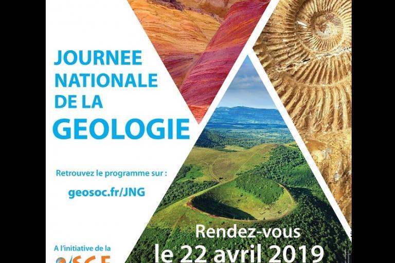 Affiche Journée Nationale de la Géologie sur nature isère
