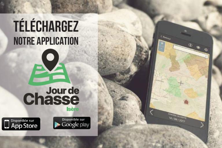 Téléchargez l'application mobile « Jour de Chasse Isère » !