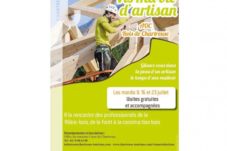 Affiche de l'animation Vis ma vie d'artisan en Chartreuse sur nature isère