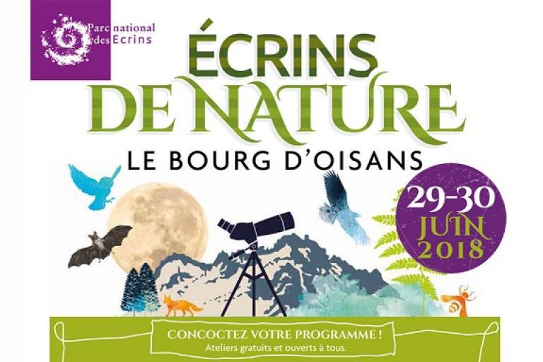 Le programme : http://www.ecrins-parcnational.fr/actualite/ecrins-nature-programme-2018