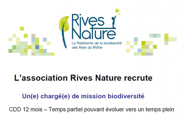 Visuel L'association Rives Nature recrute sur nature isère