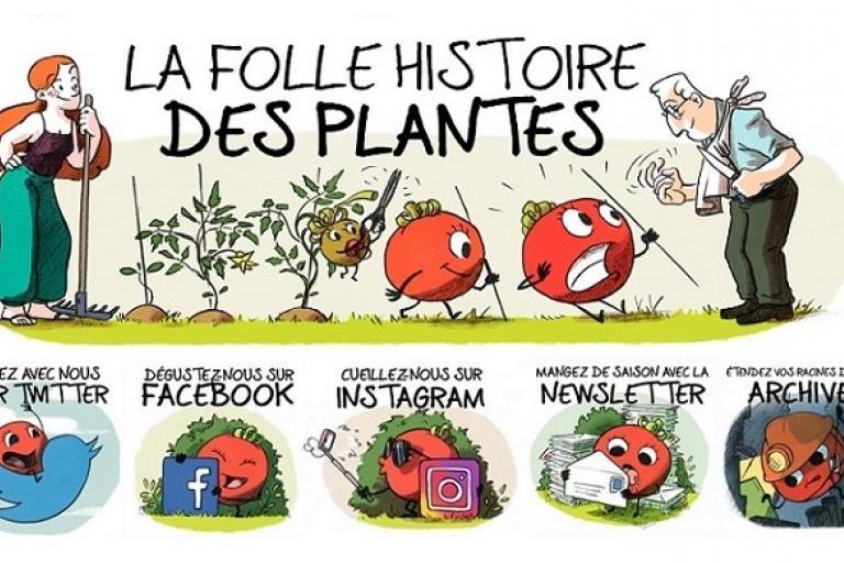 Visuels La folle histoire des plantes, Terre vivante sur Nature isère