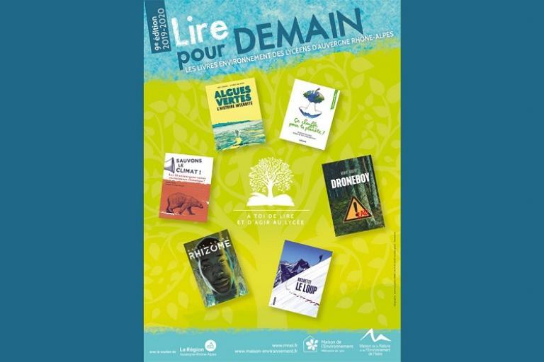 Affiche Prix lycéen des livres environnement « Lire pour Demain » édition 2019-2020 MNEI