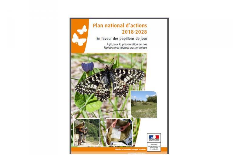 couverture du Plan national d'actions 2018-2028 en faveur des papillons de jour