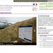 Capture écran du Site web de l'ATEN (Acteurs Territoires Espaces Naturels) sur nature isère
