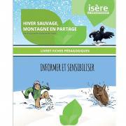 """1ère page de la mallette """"Hiver sauvage, montagne en partage"""" du Département de l'Isère"""