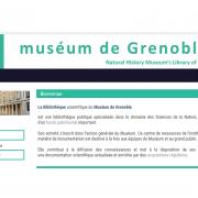 Page d'accueil du portail documentaire du Muséum de Grenoble sur nature isère