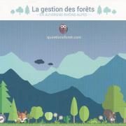 Dessin la gestion des forêt en Auvergne Rhône-Alpes