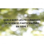 Visuel pour le document sur les différents programmes de sciences participatives en Isère par Nature isère