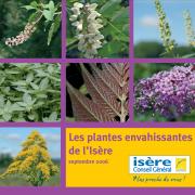 capture écran de la plaquette, les plantes envahissantes, nature isere