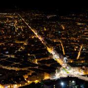 Photo de Ghislain Mary, Grenoble la nuit, CC-BY-SA