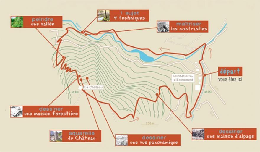 Plan-sentier-st-pierre-d'entremont-chartreuse-randocroquis