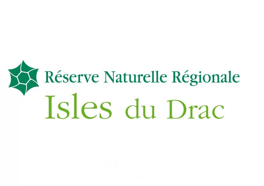 Logo de la réserve naturelle régionale Les Isles du Drac, sur Nature isère