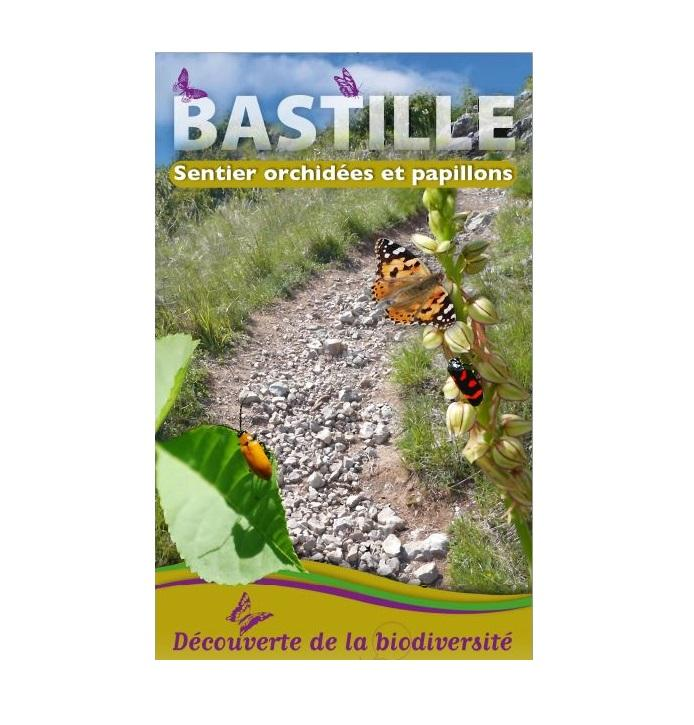 Première page de la plaquette du Sentier orchidées et papillons à la Bastille sur Nature isère