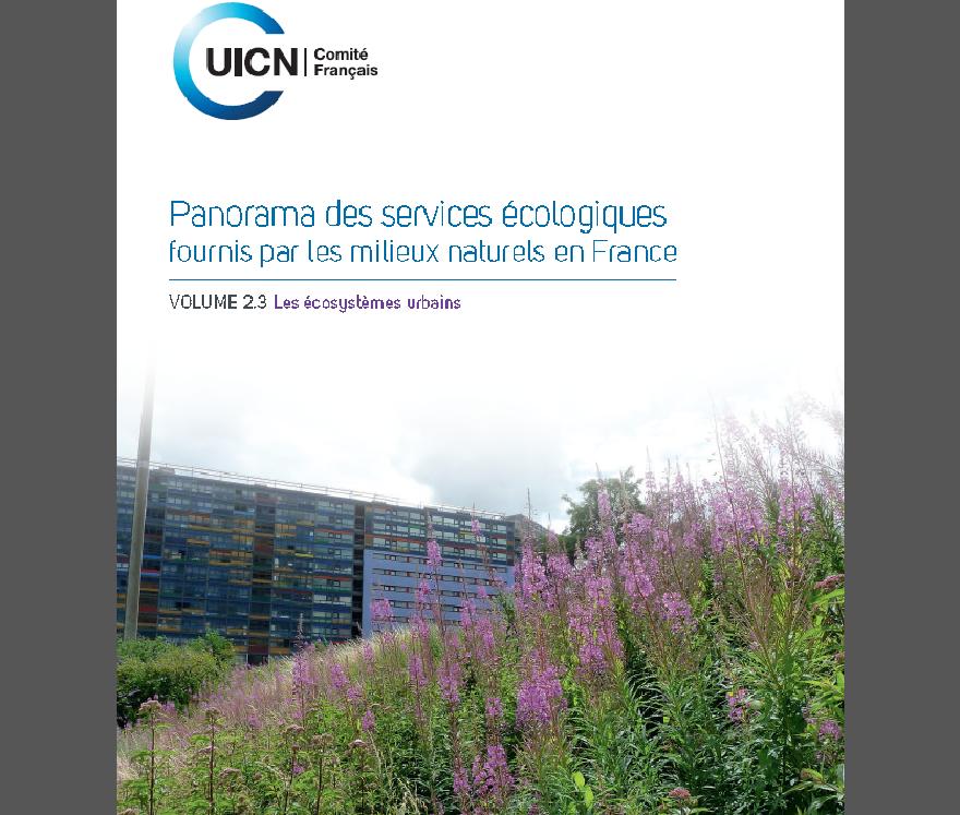 Couverture du rapport de l'UICN sur les services rendus par les écosystèmes urbains, nature isère
