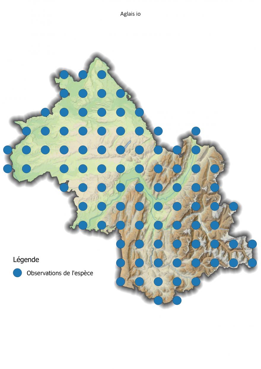 Répartition du Paon-du-jour en Isère, Nature Isère