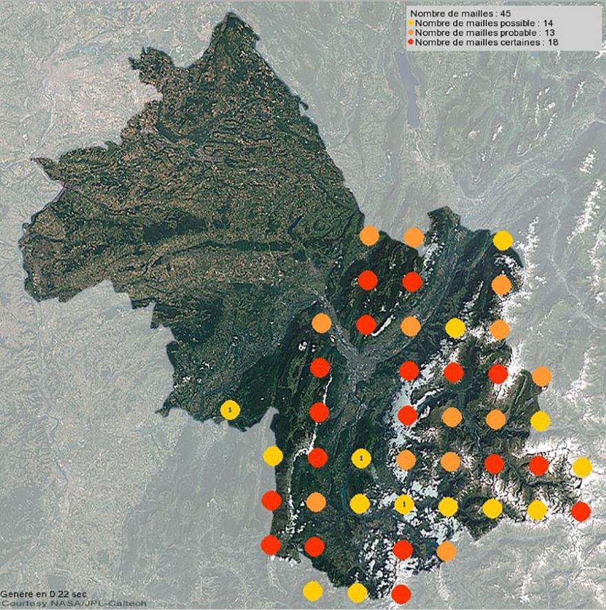 Nidification du chocard à bec jaune en Isère (2001-2021)