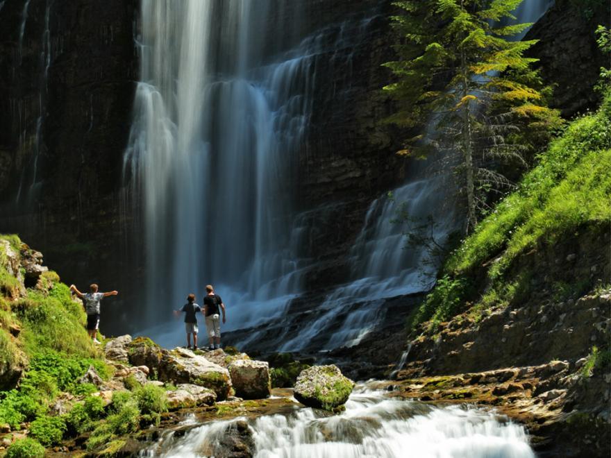Grande cascade au cirque de st Meme, Chartreuse-tourisme-Diverticimes