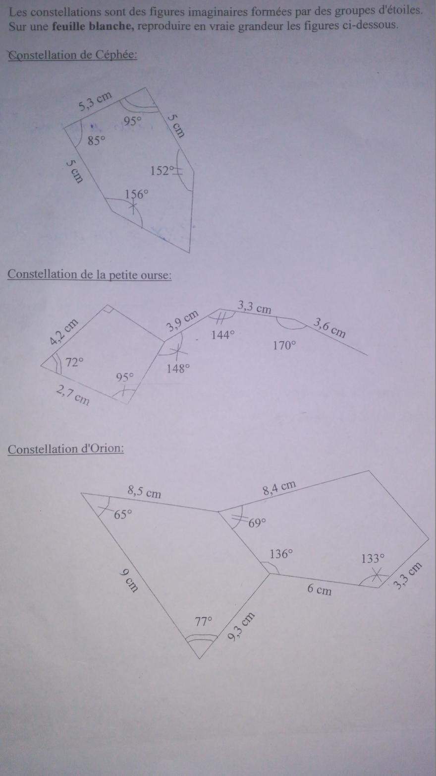 groupes d'étoiles et mathématiques