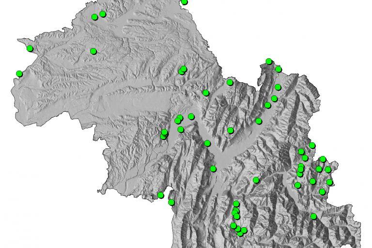 Cartes des Arrêté Préfectoral de Protection de Biotope (APPB) de l'Isère sur Nature isère, carte réalisée par le Département de l'Isère
