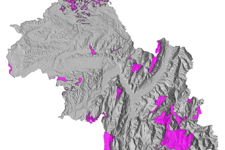 Carte des sites Natura 2000 de l'Isère réalisée par le Département de l'Isère