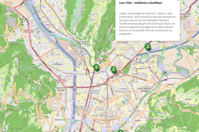 Carte de Grenoble, CC0 Nature Isère