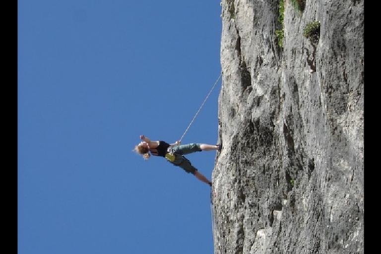 Photo de grimpeur, nature isère