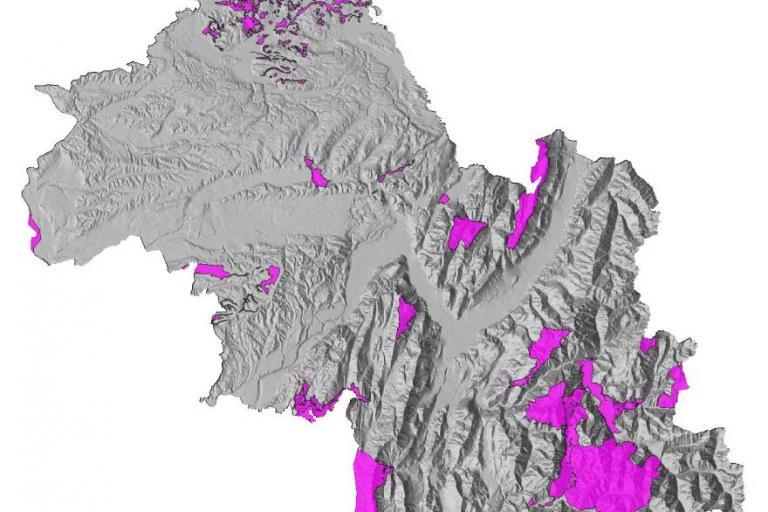 Carte Natura 2000, Département de l'Isère