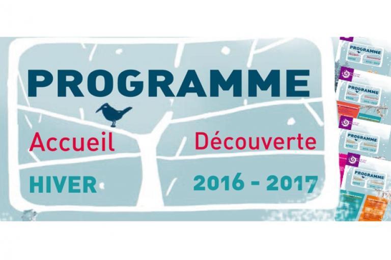 Couverture du programme du parc des Ecrins hiver 2016-2017, nature isère