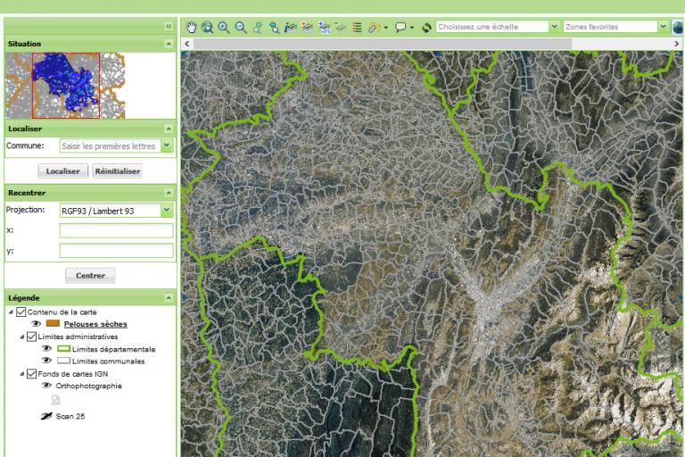 Cartographie des pelouses sèches en Isère