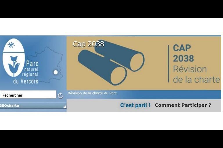 Capture écran page d'accueil site Charte du Parc