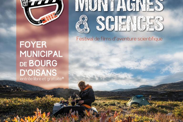 Affiche montagnes et sciences Bourg d'Oisans, PNE, nature isère