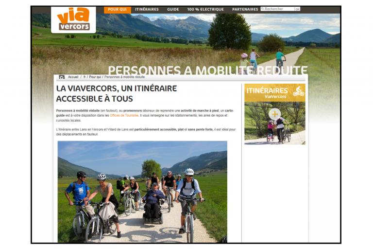Capture écran du site ViaVercors, nature isère